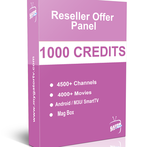 GATOR IPTV Account Subscription Reseller Panel 1000 Credts with over than 4500 Channels