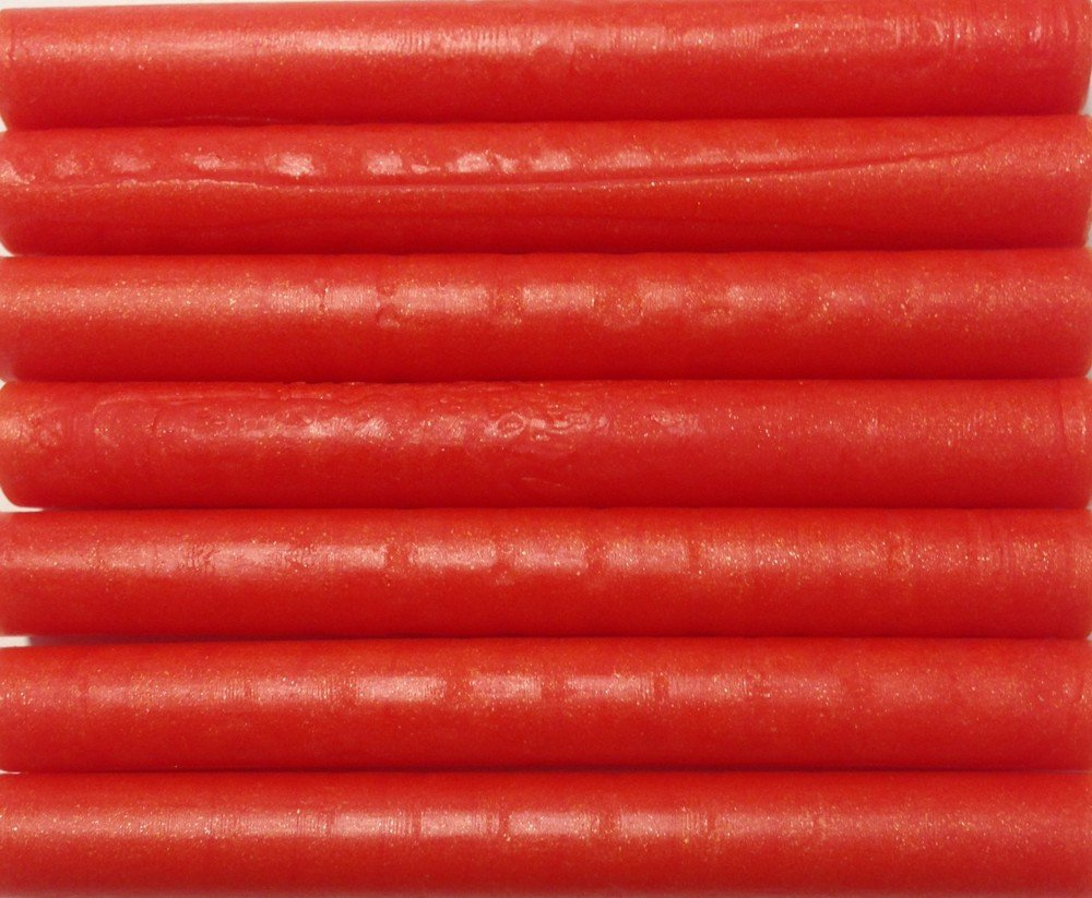 Bright Tangerine Orange Pearl flexible Glue Gun Sealing Wax - 7 Sticks