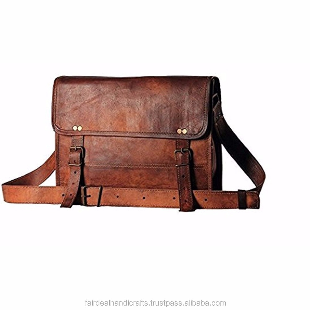 Leather Unisex Bag Leather Messenger Bag Leather Laptop Bag Briefcase