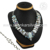Majestic multi stone gemstone necklace handmade wedding jewelry 925 sterling silver jewellery exporters