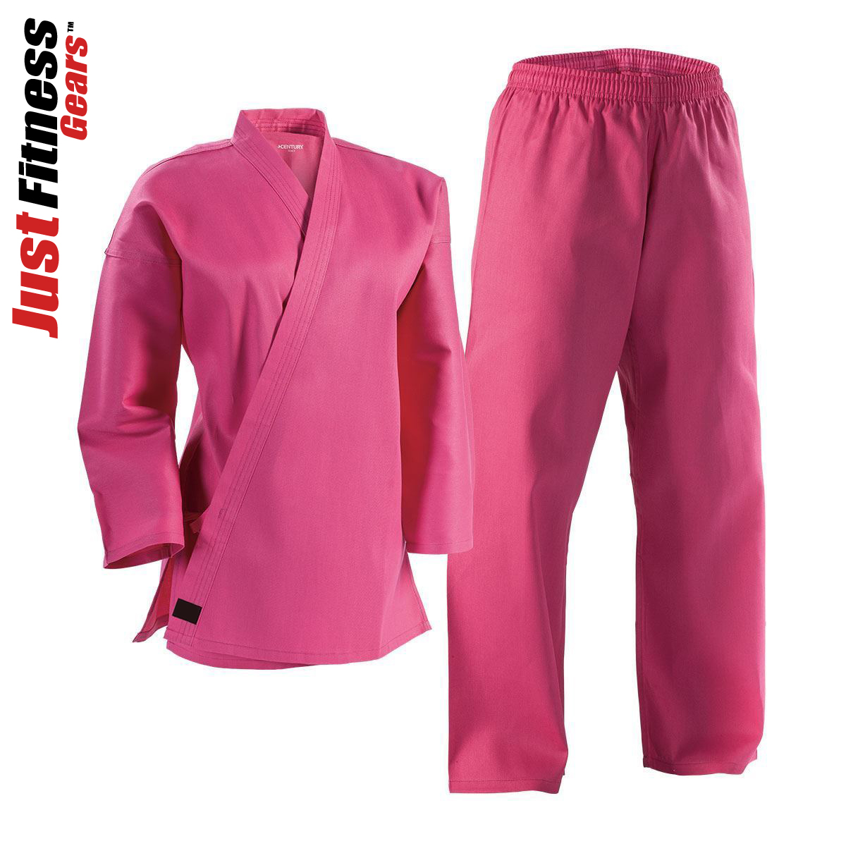Great for Taekwondo /& Karate Pink Complete Student Martial Arts Uniform