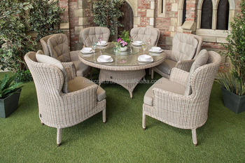 Synthetic Rattan Wicker Outdoor Cheap Dining Round Table Set - Poly ...