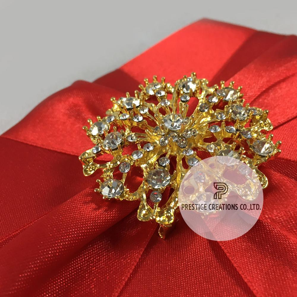Embellished High End Silk Wedding Invitation Boxes - Buy Luxury ...