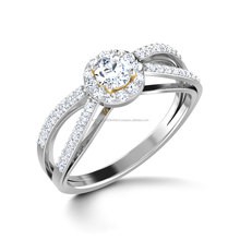 Wholesale unique diamond white gold women jewellery natural diamond engagment ring