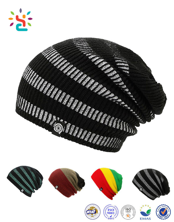 Factory Wholesale Custom Knitted Toque Winter Beanie Jamaica Knitted Rasta  Hat Double Layered Beanies cdcd5d3b6c6