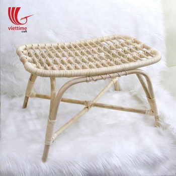 Hot home furniture Rattan Short Bench made in Vietnam