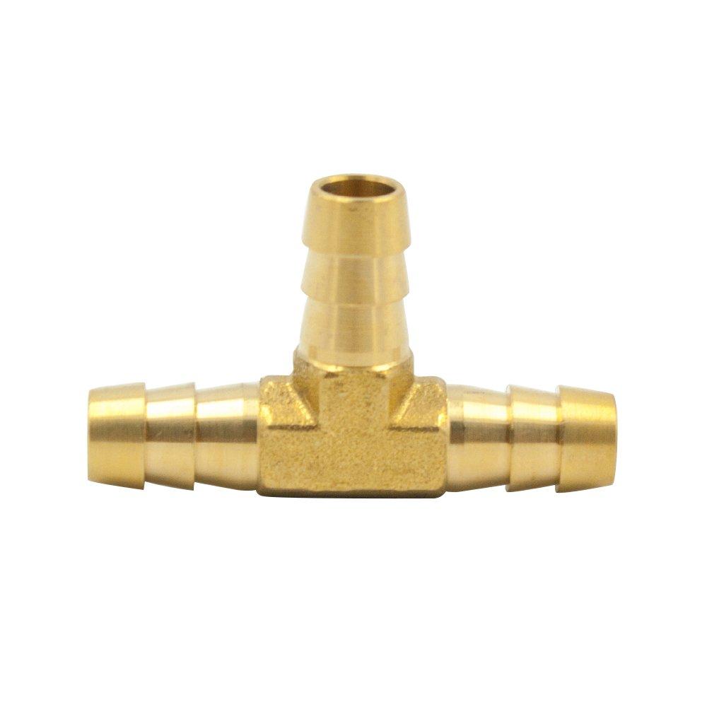 Legines Brass Hose Barb Fitting 2 pcs Tubing Hose Adapter//Coupler 1//4 Barb x 1//4 Barb Mender//Splicer//Joiner//Union