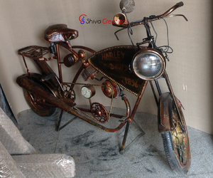 Vintage Retro Restoration 2 Wheeler Bike Automobiles Themed Furniture