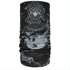 Multifunctional 10+ Ways Wear UV Block air purify PM2.5 pollen protection Headwear Tube Scarf - Stone Lion with Ivory Ball