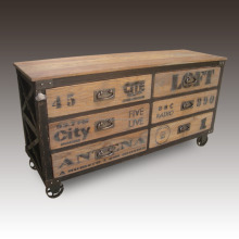 Vintage Industrial Style Chest of Drawers - indonesia furniture