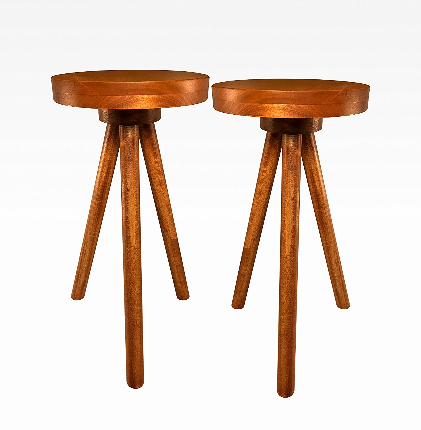 Modern Pair of Side Tables in Cherry by Candlewood Furniture End Table Bar Stool, Bedside Table, Nightstand, Wood