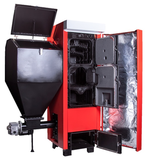 V8 Cast Iron Boiler With Feeder | Mce Poland | Coal Wood Pellets ...