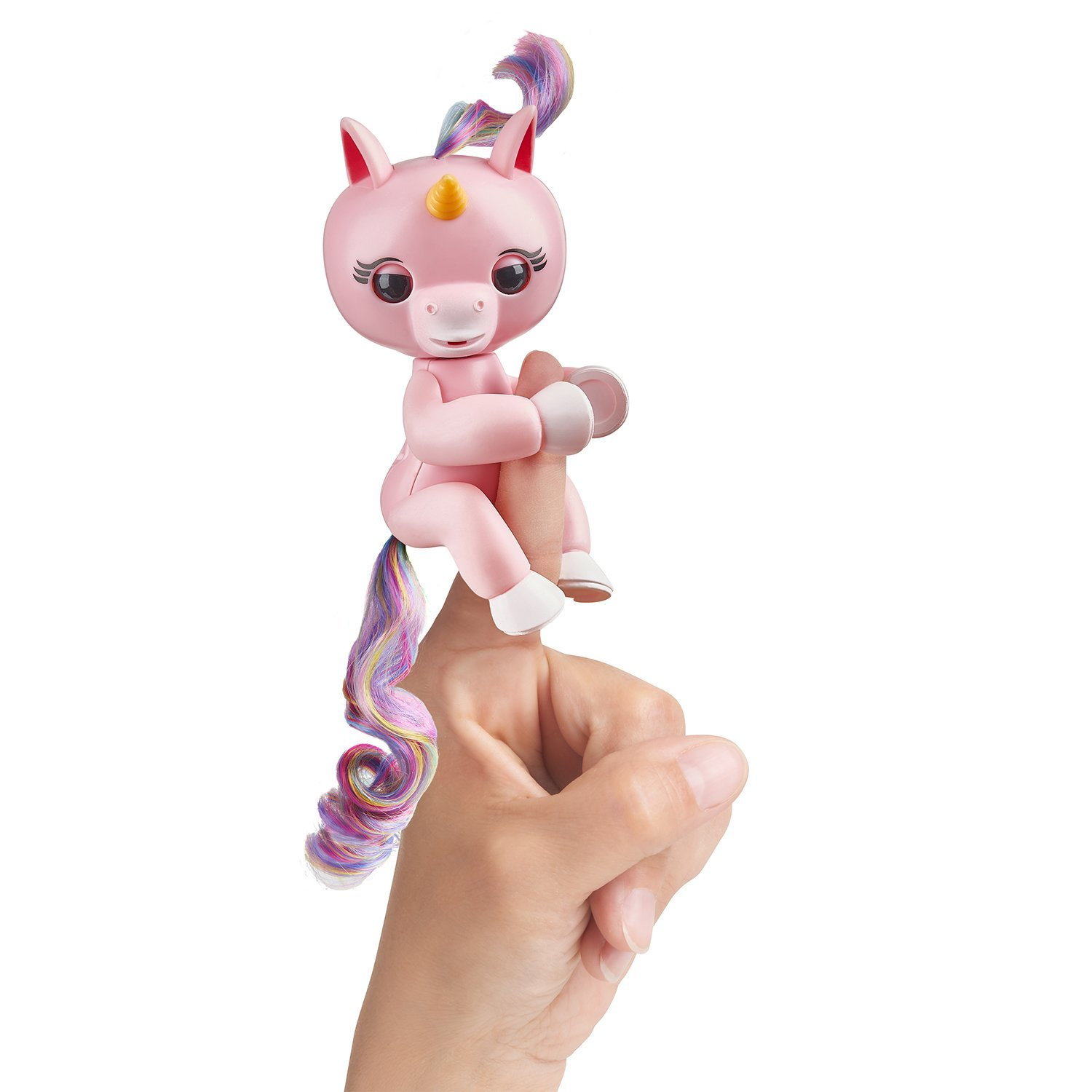 Baby Unicorn - Gemma (Pink with Rainbow Mane and Tail) - Interactive Baby Pet