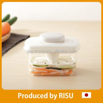 Japanese Tsukemono And Stylish Asazuke Pickles Maker With Compact