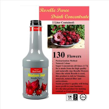 Roselle Puree Drink Concentrate Organic Hibiscus Juice Buy Soft