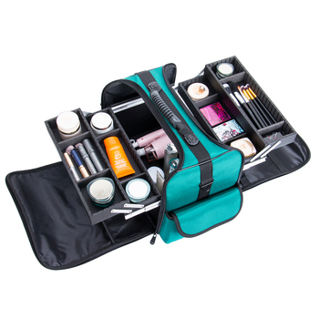Soft Nylon Cosmetic Bag With Compartments Felt Lined Bo Makeup Storage Morden Bags Hard Case