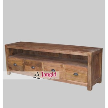 Modern Indian Wooden Mango Wood Tv Cabinet Stand Designs Furniture Malaysia  Style