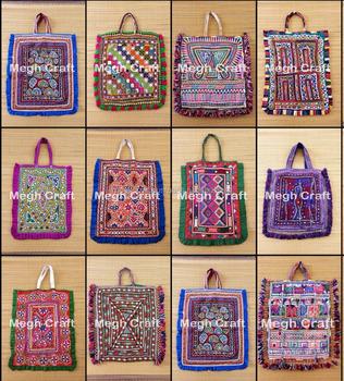 ff83343d67bf Tribal Kutch Mirrorwork Theli Bag- Hand Embroidery Mirror Work Theli BAG-  VINTAGE RABARI THELI