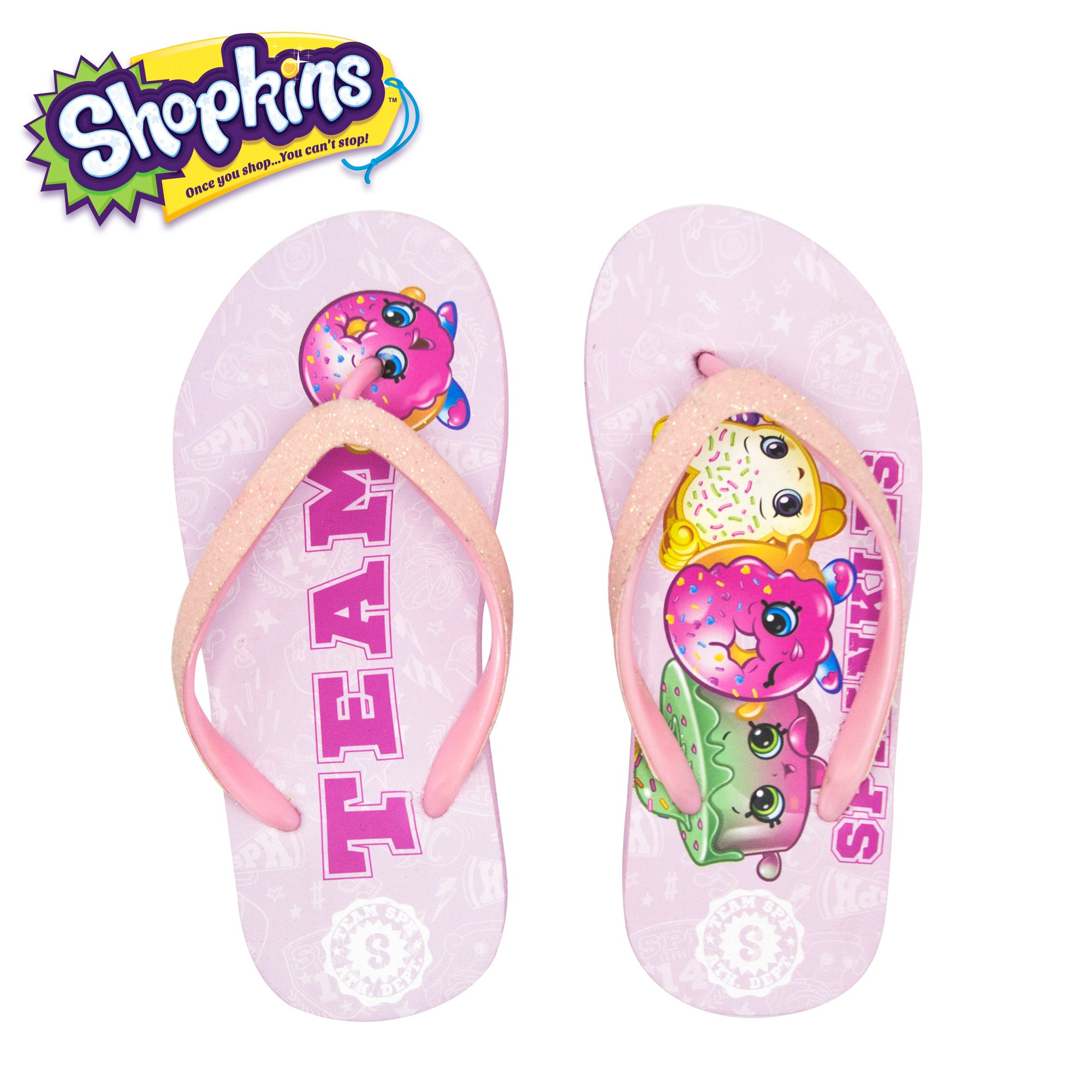 9f67c7d2f5400d Get Quotations · Shopkins Girls Flip Flops with Jelly Straps