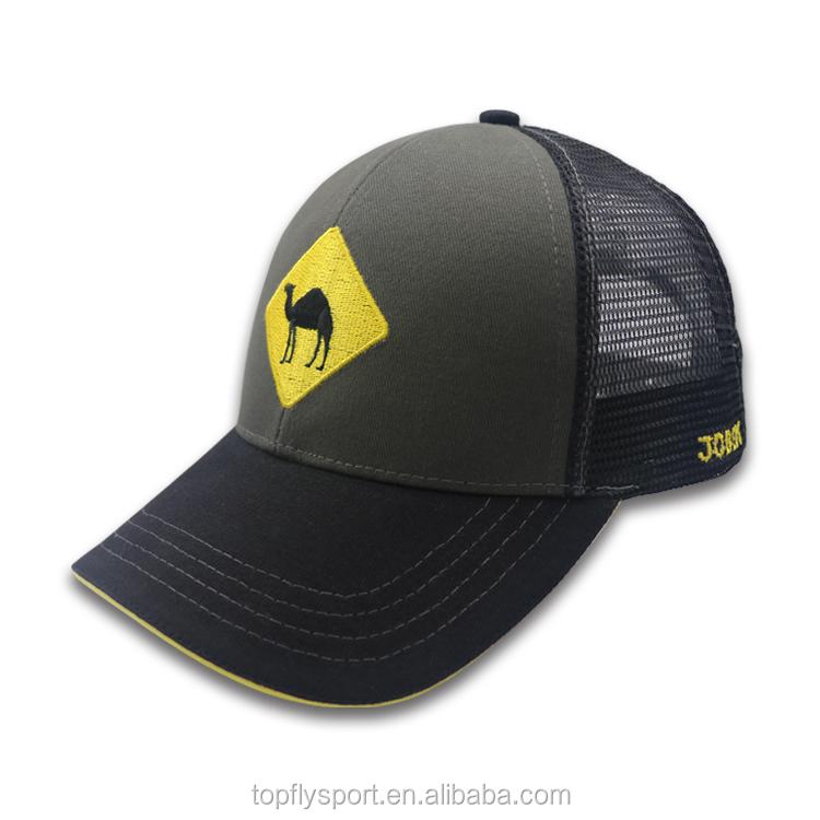Custom Promotion trucker baseball cap with embroidery logo  e14b78b22b5