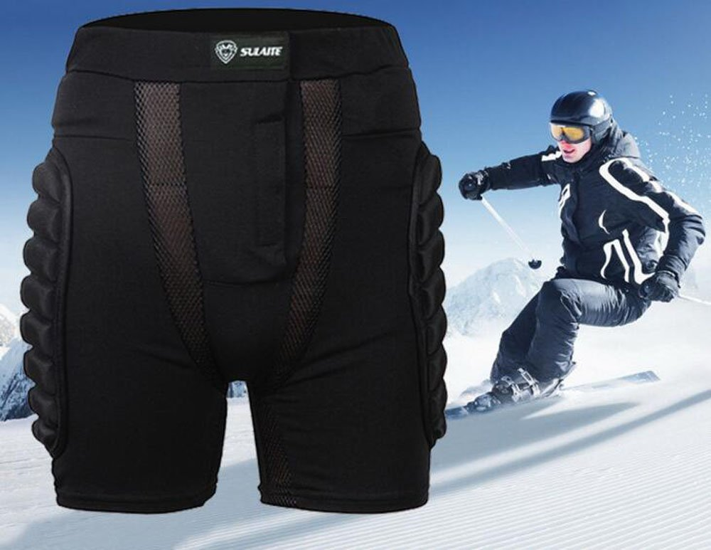 SULAITE 3D EVA Impact Short Protective Hip Butt Paded Pants For Adult & Child Skating Skiing Ski Skate Snowboard Protection