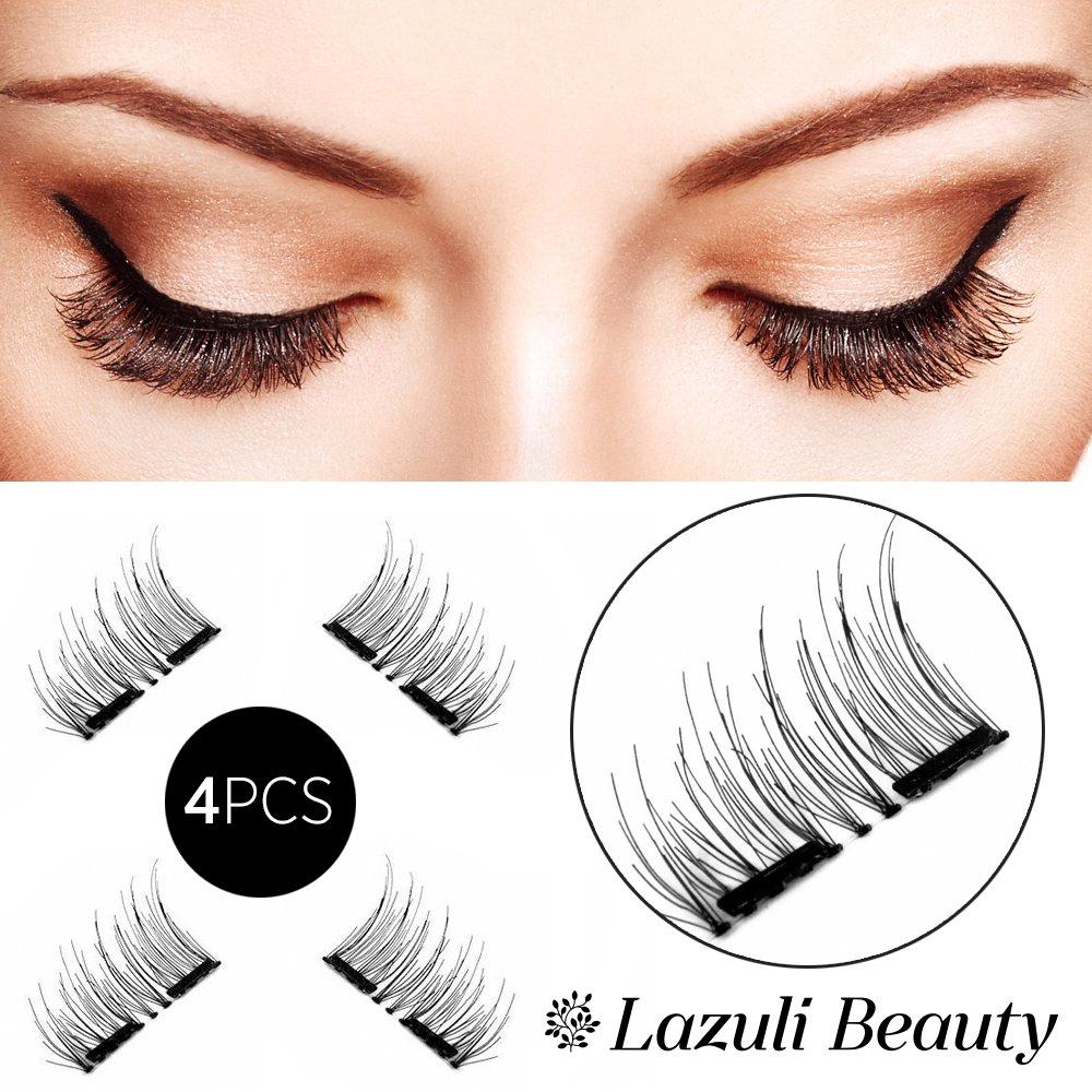 4f570b7f0c4 Get Quotations · Lazuli Beauty Dual Magnetic Eyelashes, False Eyelashes,  Magnetic False Eyelashes, Fake Lashes,