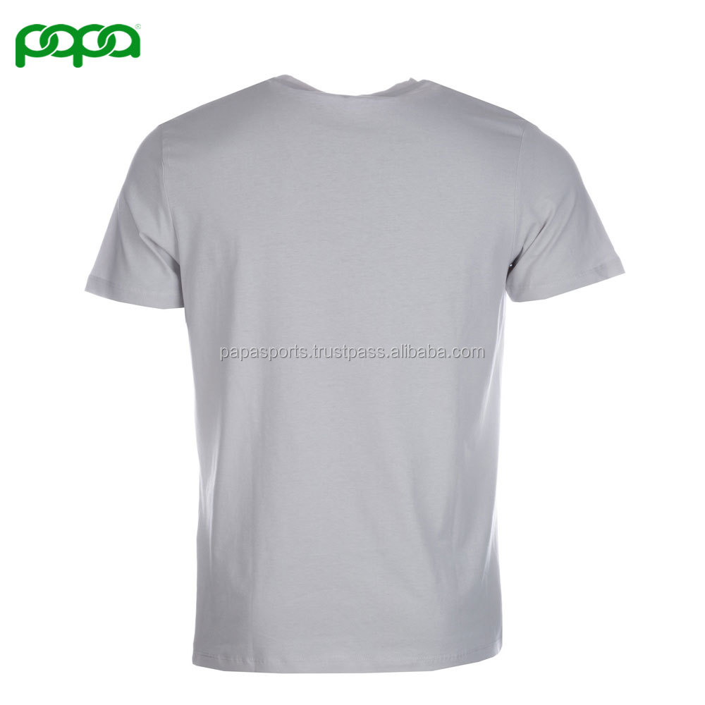Fashion Custom goedkope basic mannen korte mouwen plain ronde hals t-shirt