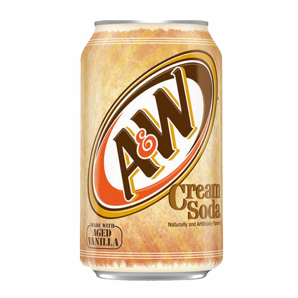 AMERICAN A&W ROOT BEER/CREAM SODA.