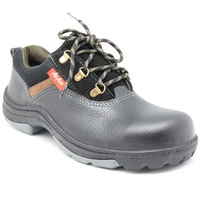 Black Buff Barton Prints Low Cut Safety Shoes Steel Toe Cap with Lace Malaysia