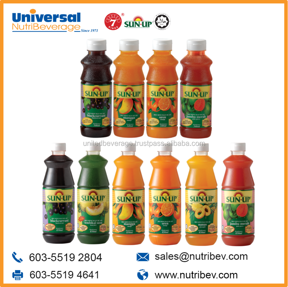 Sun Up Malaysia Fruit Flavor Concentrate Juice Drink Cordial