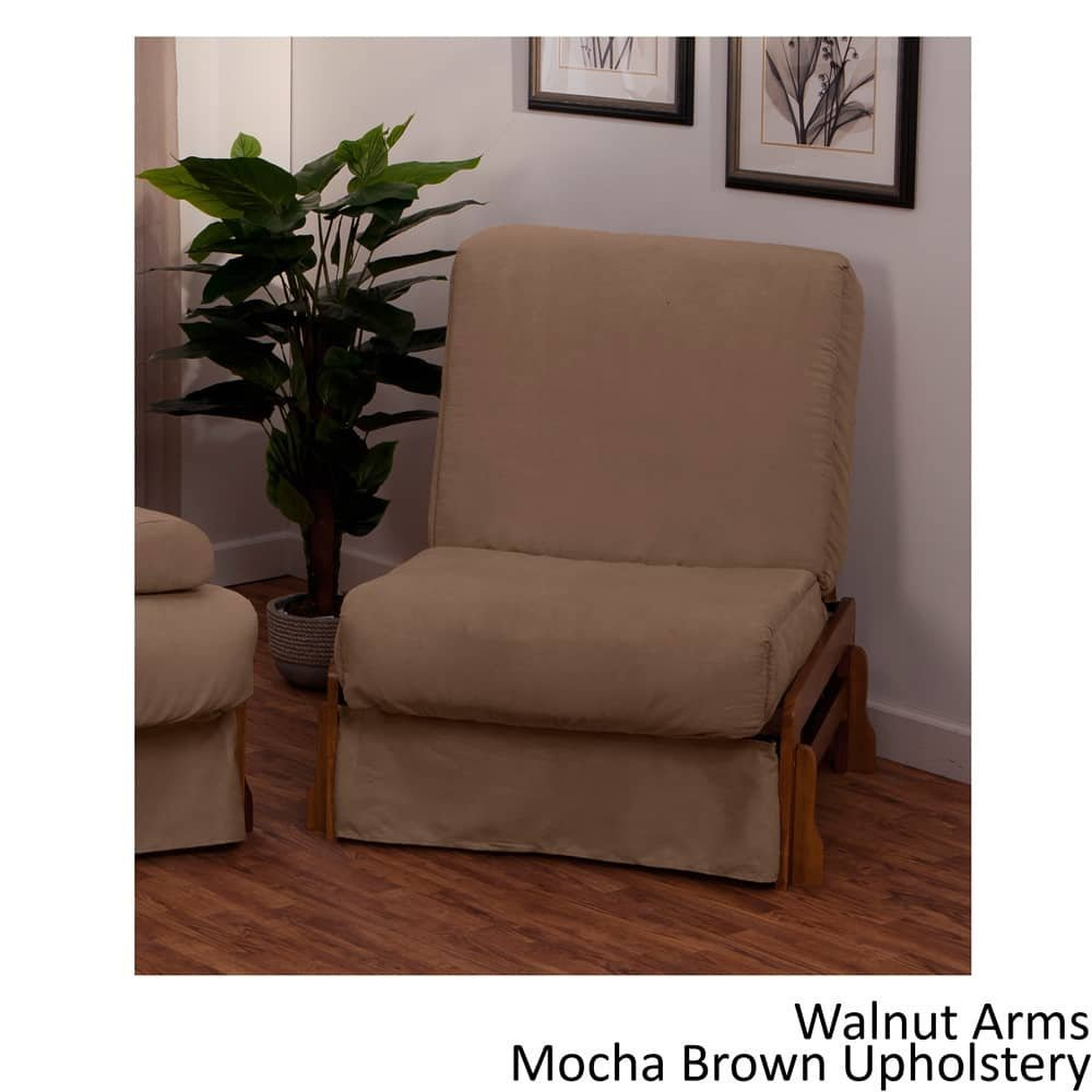 EpicFurnishings Boston Perfect Sit & Sleep Transitional-style Pillow Top Chair Sleeper Mahogany/Slate