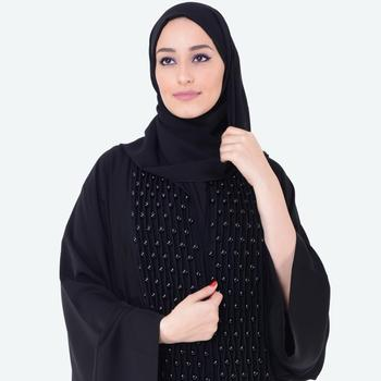 2019 High Quality Custom Fabric Front open buttoned down with straight sleeves DUBAI FASHION LATEST DESIGN ABAYAS
