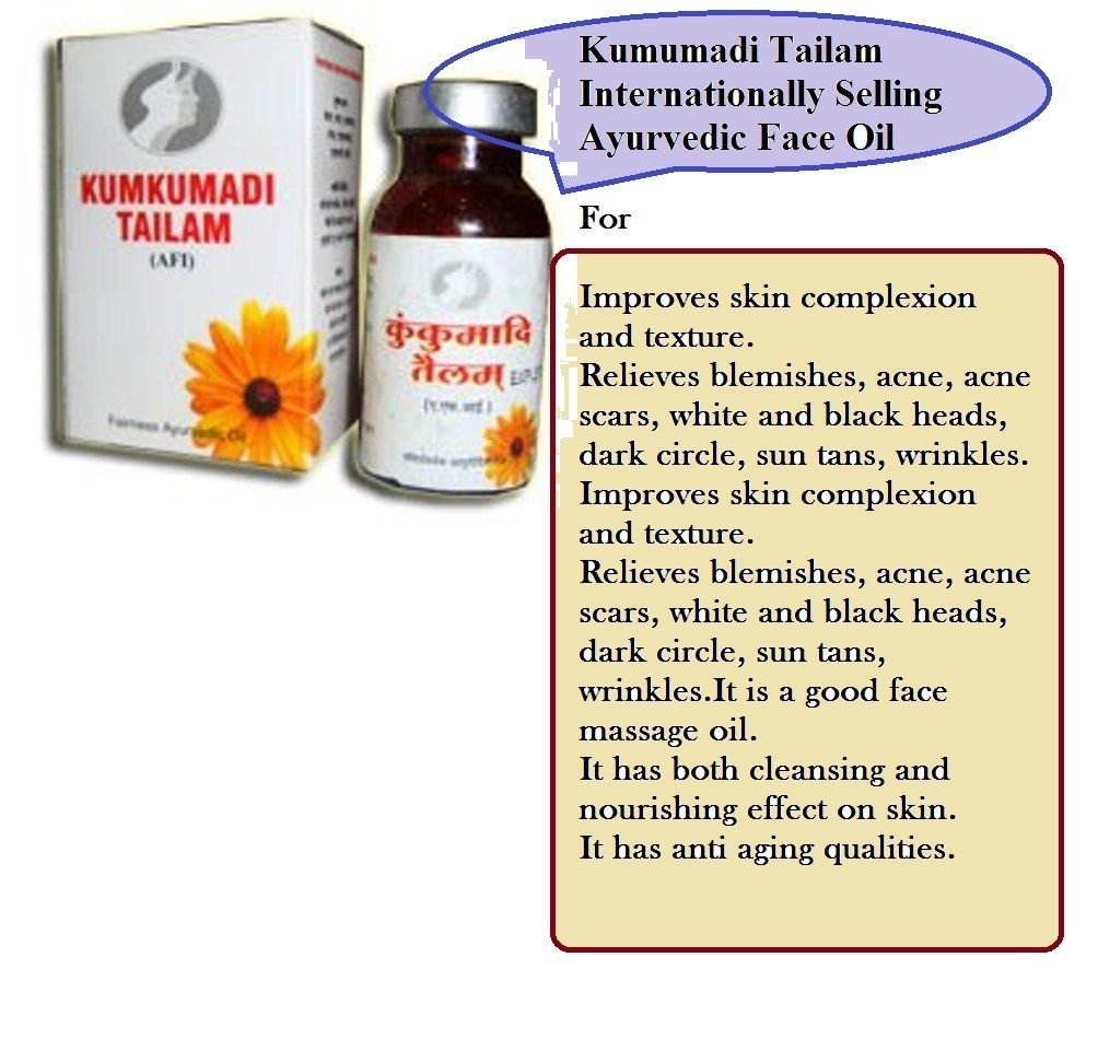 2 packs of Ayurvedic Kumkumadi Face Oil with Saffron for Fairness Acne Blemish Free Glowing Skin