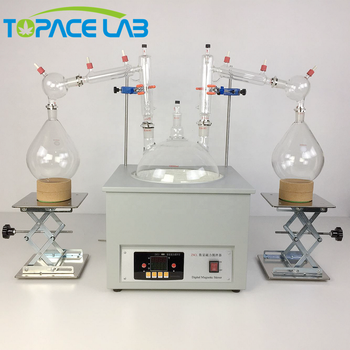 High Quality CBD Extraction Machine 10L Vacuum Short Path Distillation Kit  with Heating Mentle and Cold Trap