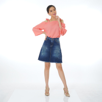 Fashionable Mini Jeans Denim Skirt for Woman