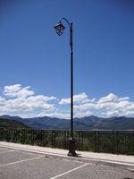 Italian style Cast iron or aluminum lamp post pole with octagonal base