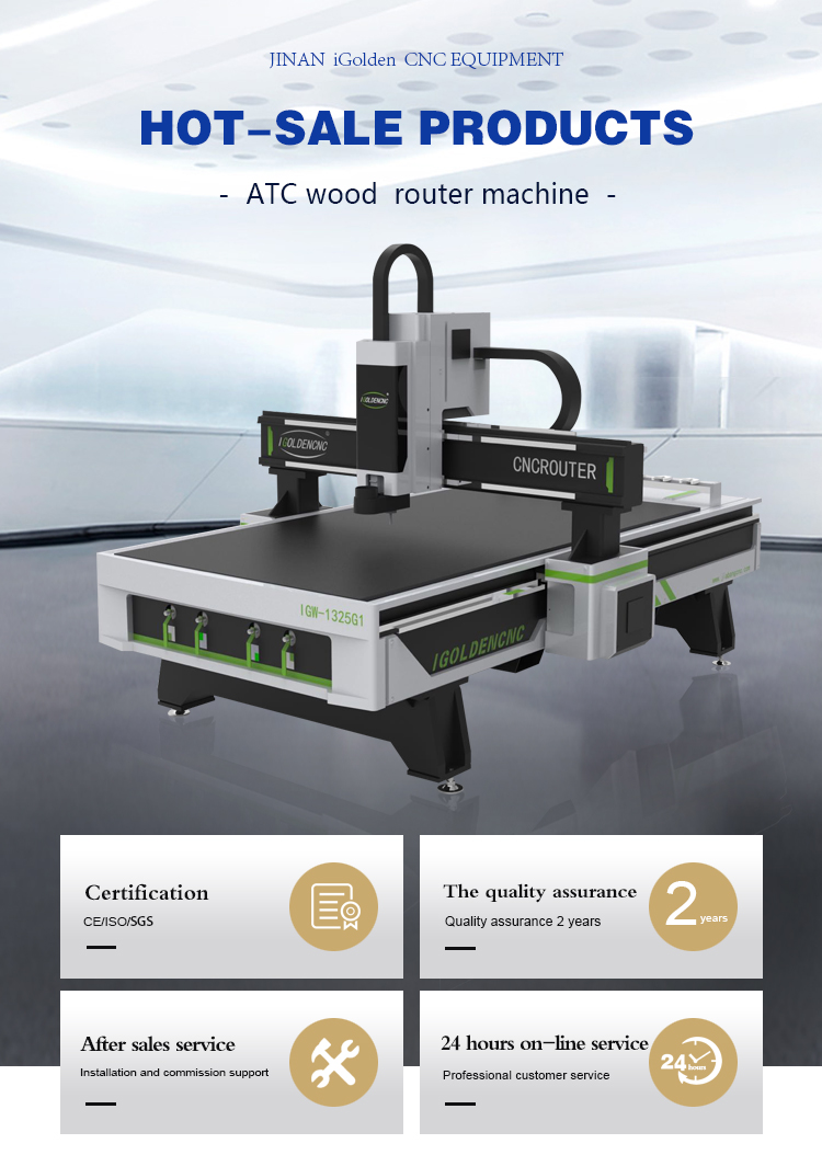 1325 ATC CNC Router Woodworking Automatic Tool Change 3D Wood Carving Design Engraving Machine 1325 ATC Wood Router