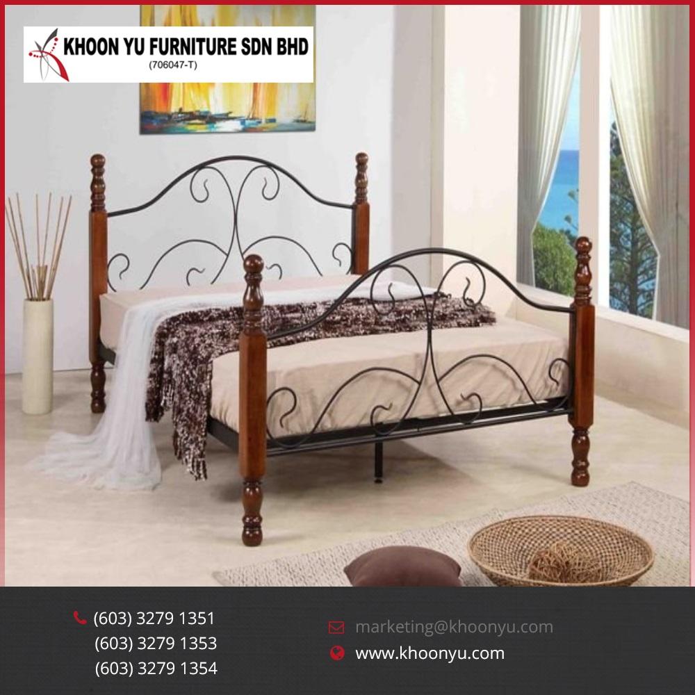 - Latest Design Metal Folding Bed Joey Double Metal Bed Bedroom
