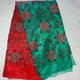 Indian Designer Gold Banarsi Printed Tissue Party Wear Green and Red Colour Saree