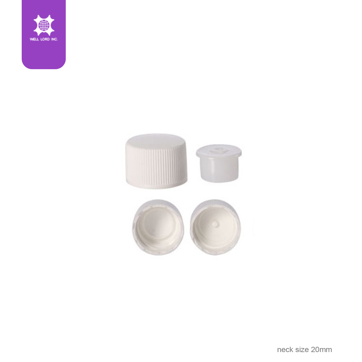 18mm white plastic cap with child hood proof screw cap