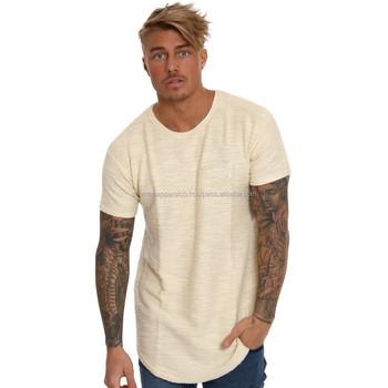 e9d837e3732 Casual Street Wear Blank Black Curved Hem T Shirt Custom High Quality Longline  T Shirt Men