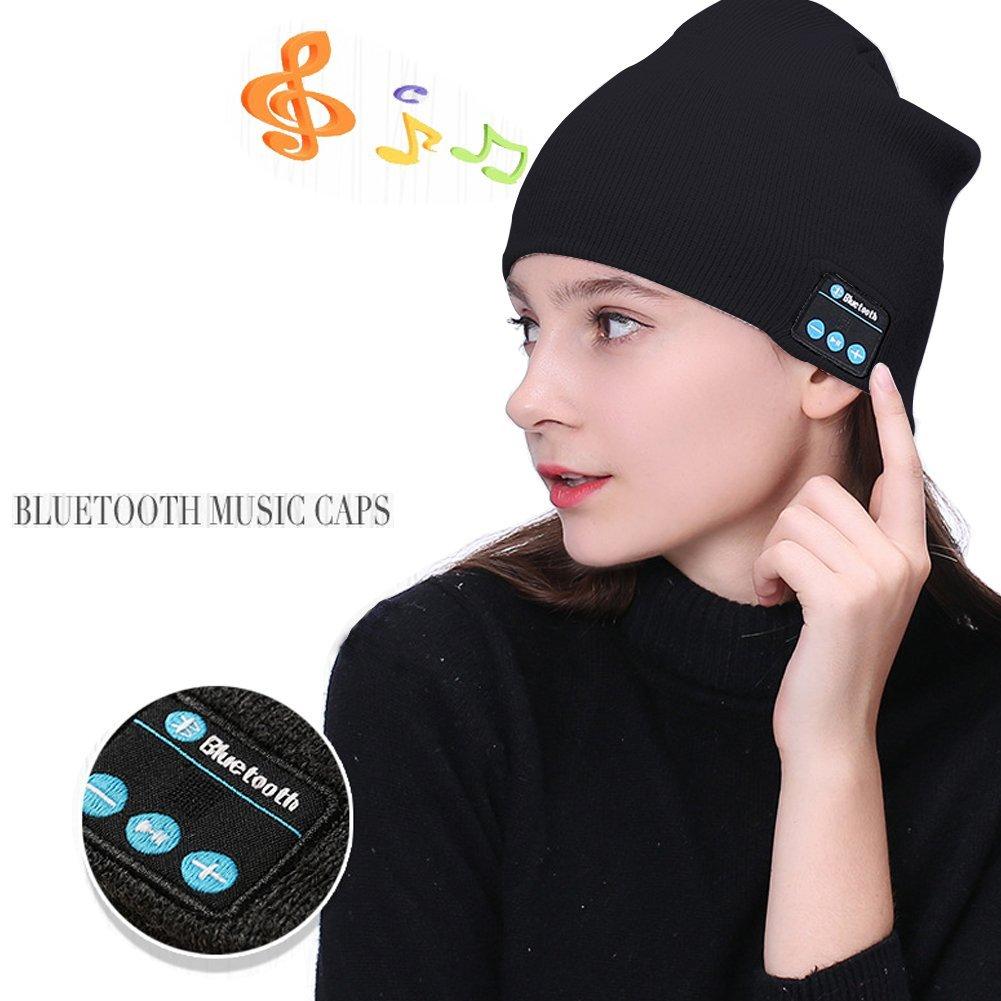 bluetooth speaker hat,Unisex Bluetooth Beanie,beanie for men women,beanie hats for men women,mens hats, Wireless Headphone Beanie,Winter Hat with Wireless Bluetooth Speakers for Outdoor Sports,