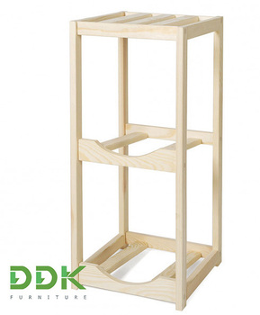 Wooden shelf for storing bottles DDK WT2, for 3 bottle