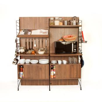 Ezbo Kitchen Furniture Extendable Storage Shelf Cabinet Wooden 6 Feet - Buy  Free Standing Kitchen Storage Cabinets,Portable Kitchen Cabinet,Movable ...