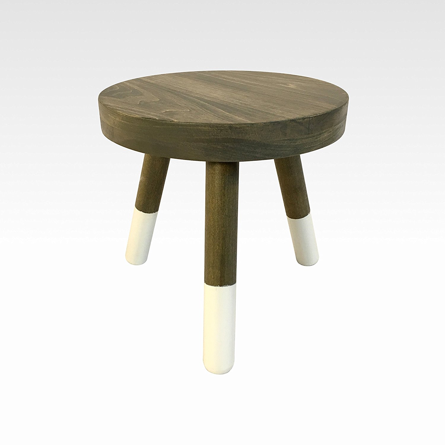 Wood Three Legged Stool, Modern Plant Stand in Walnut by Candlewood Furniture, Wooden, Tea Table, Kids Chair, Decorative