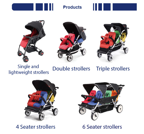 NEW CENTURY Plastic second hand modern baby dual travel stroller made in China