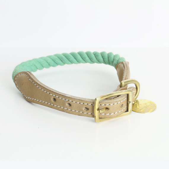 Handmade Cotton rope dog collar