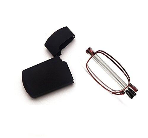 a6363d7693d Get Quotations · Men Women Small Compact Folding Foldable Pocket Readers  Eye Glasses Unisex Portable Presbyopic Reading Glasses Eyewear