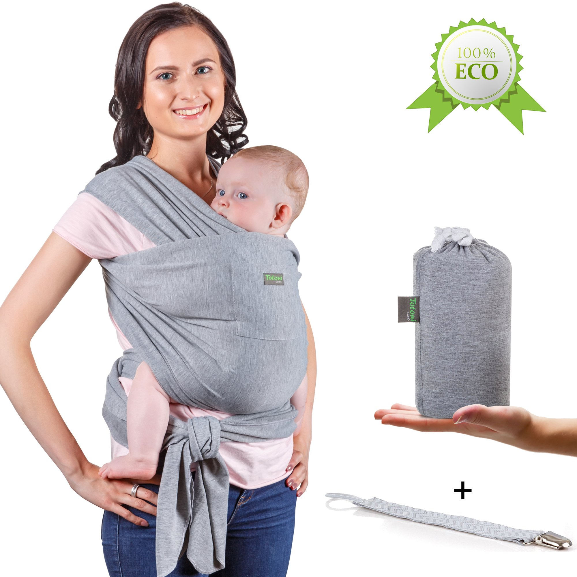 0a3eb44d238 Baby Wrap Carrier - Baby Sling up to 35 lbs - Infant Wrap - Newborn Baby