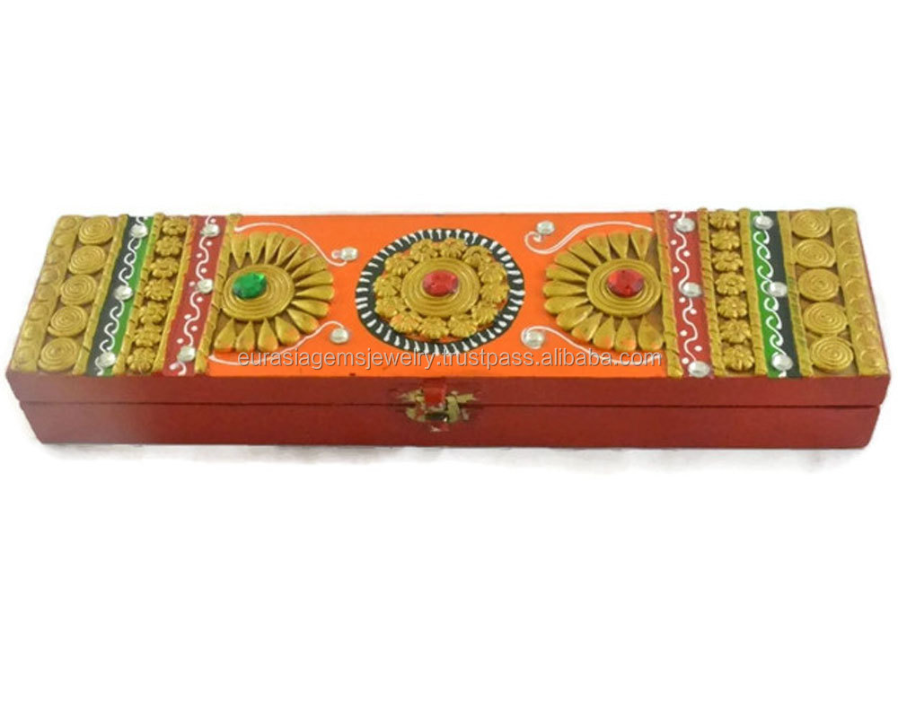 decorative jewelry decor wooden floral petrykivka box product boxes ukrainian